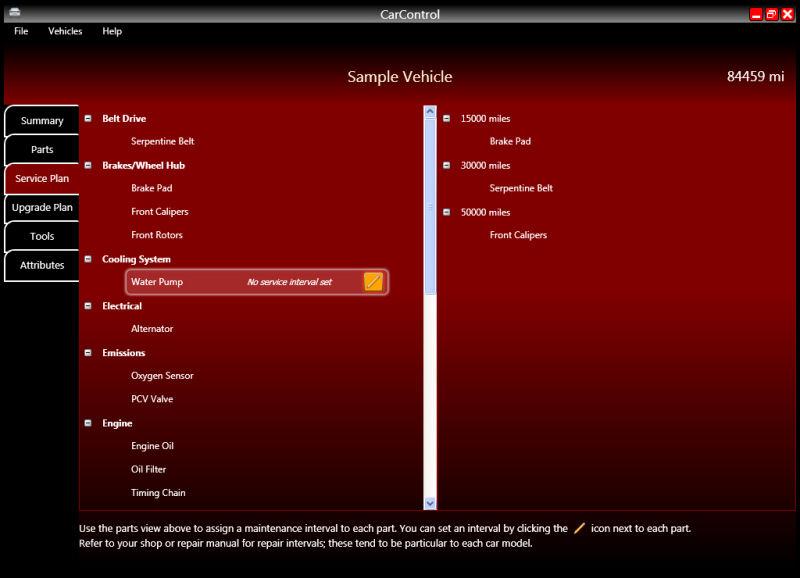 Screenshot af CarControl