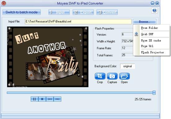 Screenshot af Moyea SWF to iPad Converter