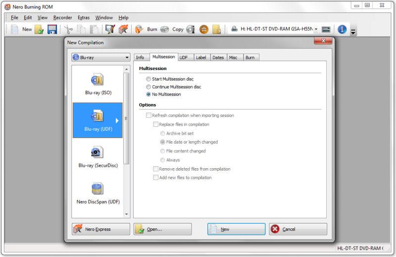 Screenshot af Nero Burning ROM