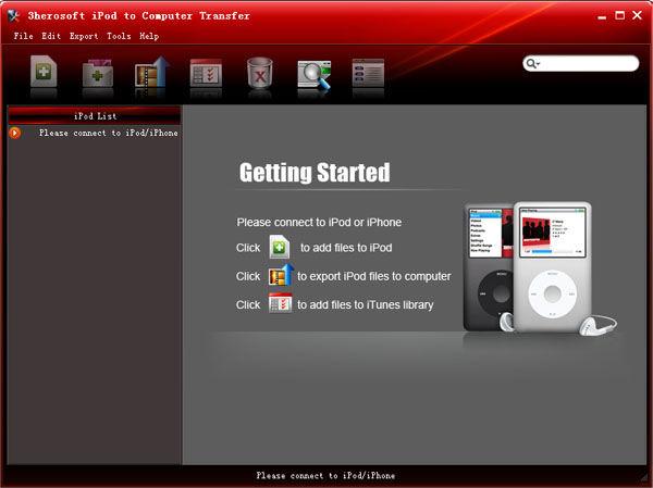 Screenshot af 3herosoft iPod to Computer Transfer
