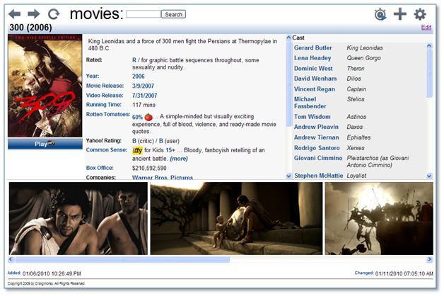 Screenshot af Movies by CraigWorks
