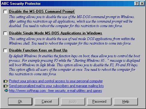 Screenshot af ABC Security Protector