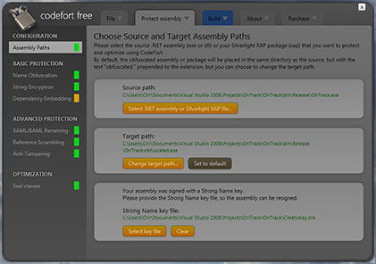 Screenshot af CodeFort Free Edition