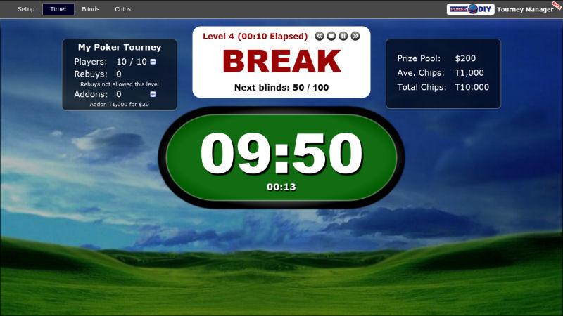 Screenshot af PokerDIY Tourney Manager