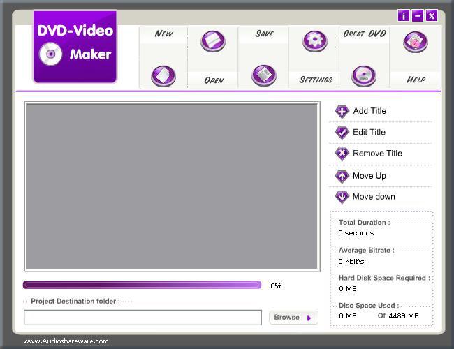 Screenshot af DVD Video Maker Limited Version