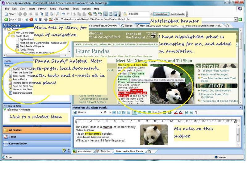 Screenshot af KnowledgeWorkshop