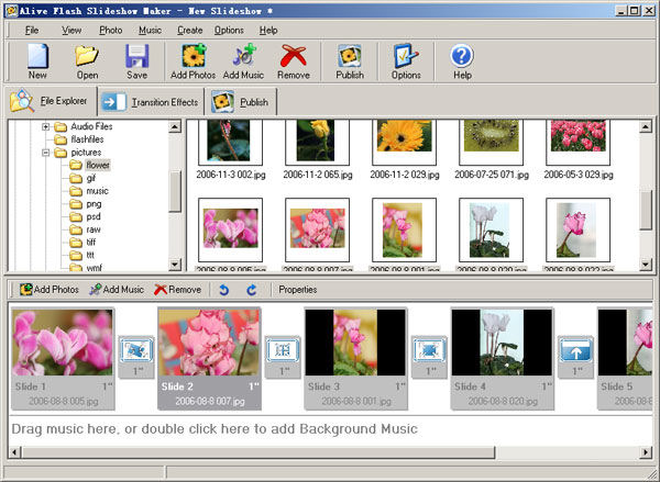 Screenshot af Alive Flash Slideshow Maker