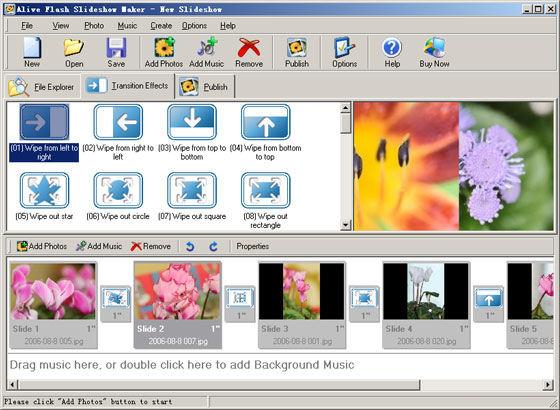 Screenshot af Alive Flash Slideshow Maker