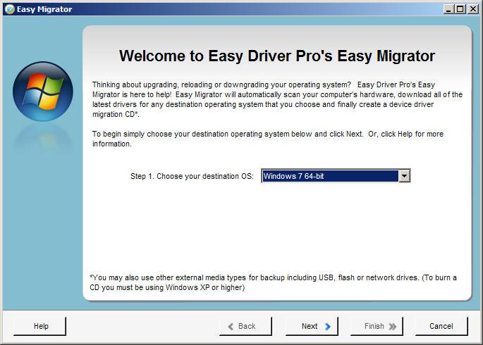 Screenshot af Easy Driver Pro