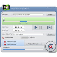 Screenshot af ImTOO iPhone Ringtone Maker