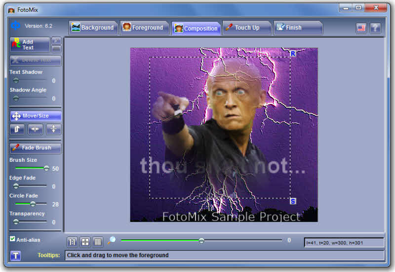 Screenshot af FotoMix