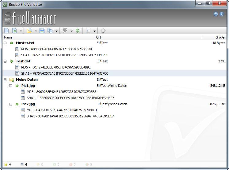 Screenshot af Bexlab File Validator (Light Edition)