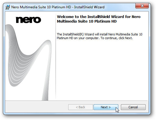 Screenshot af Nero Multimedia Suite Platinum HD