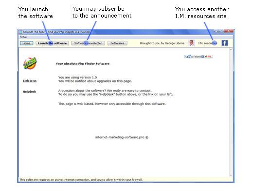 Screenshot af Absolute php finder
