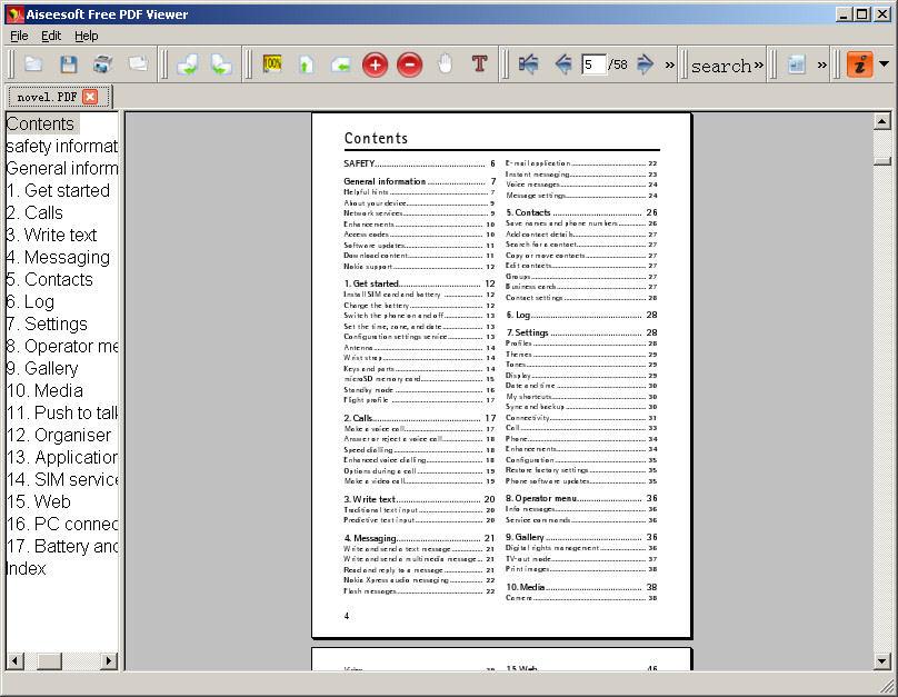 Screenshot af Aiseesoft Free PDF Viewer