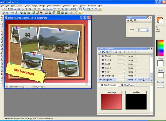 Screenshot af Photo Pos Pro photo editor