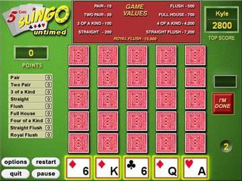 Screenshot af 5 Card Slingo Deluxe