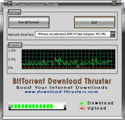 Screenshot af BitTorrent Download Thruster