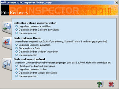 Screenshot af PC Inspector File Recovery