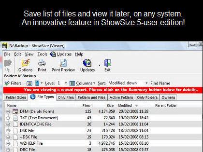 Screenshot af ShowSize