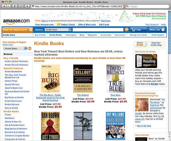 Screenshot af Kindle for Mac