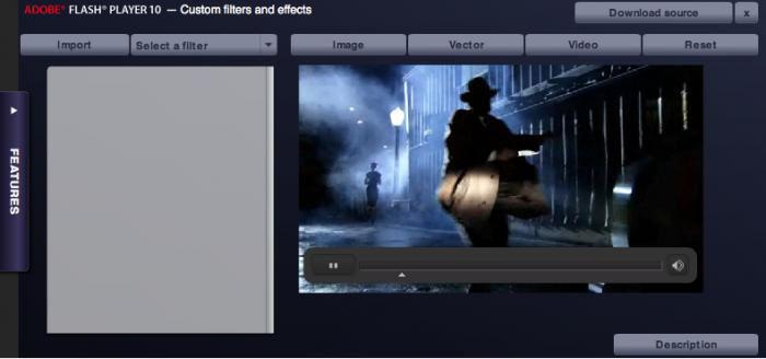 Screenshot af Adobe Flash Player til Mac