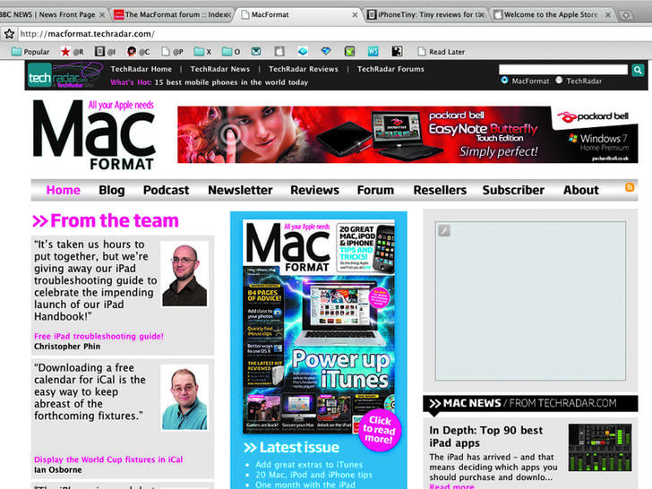 Screenshot af Google Chrome for Mac