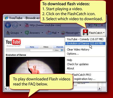 Screenshot af FlashCatch Video Downloader