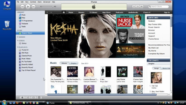 Screenshot af Apple iTunes til Mac