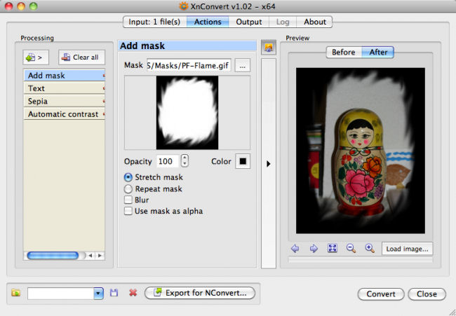 Screenshot af XnConvert for Mac