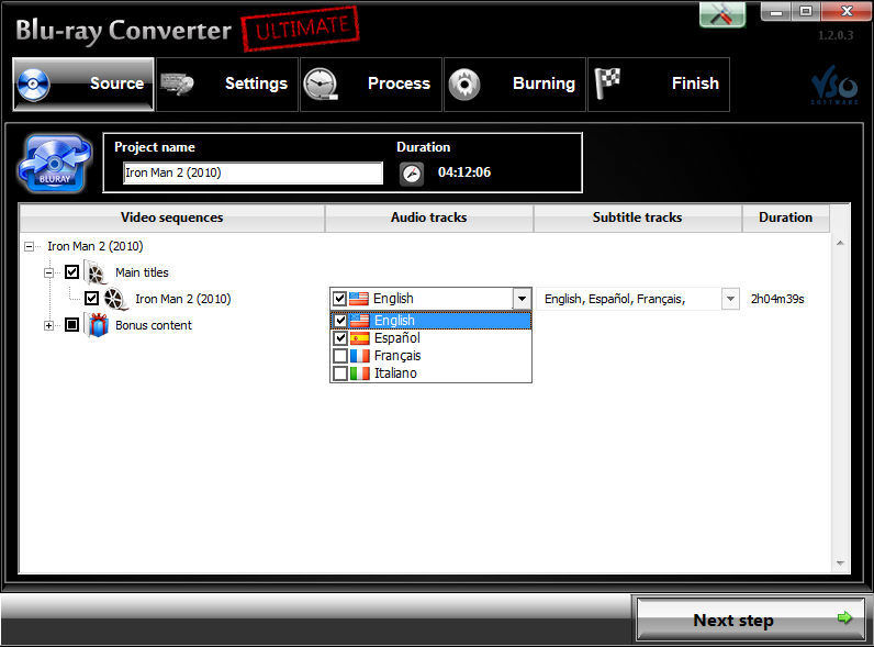 Screenshot af Blu-ray Converter Ultimate