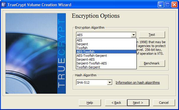 Screenshot af TrueCrypt til Mac