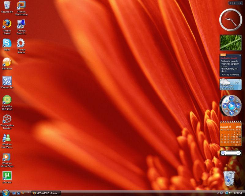 Screenshot af Thoosje Vista Sidebar