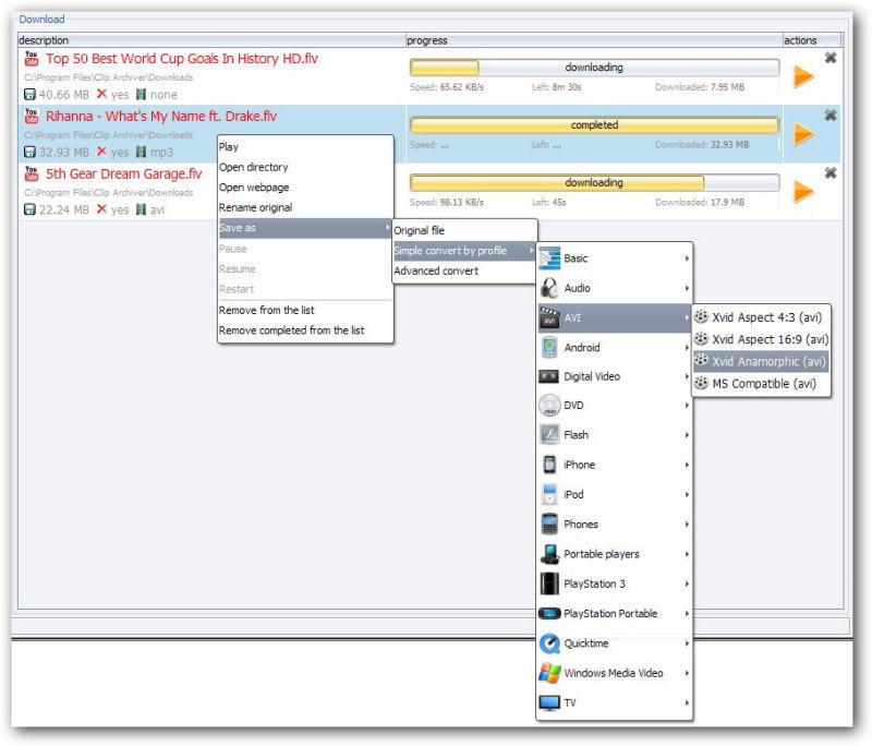 Screenshot af Clip Archiver