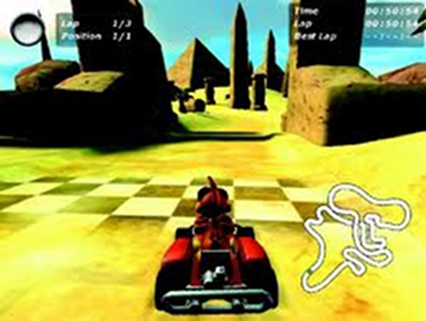 Screenshot af Crazy Chicken Kart 3