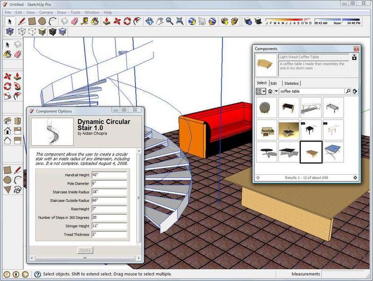 Screenshot af Google SketchUp til Mac