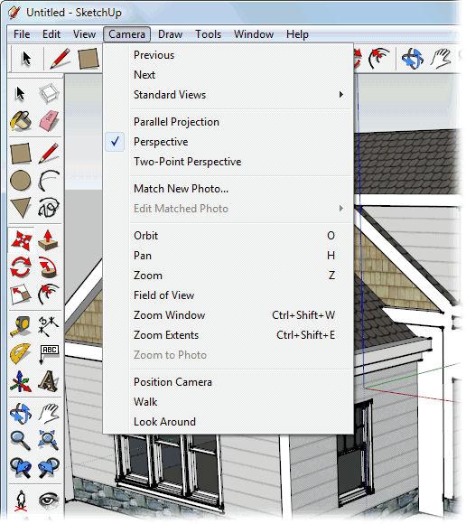 Screenshot af SketchUp til Mac