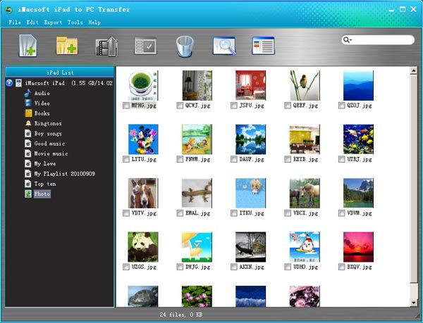 Screenshot af iMacsoft iPad to PC Transfer