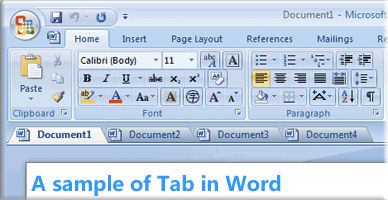 Screenshot af Office Tab