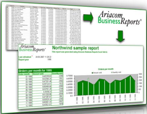 Screenshot af Ariacom Business Reports
