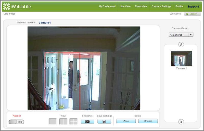 Screenshot af iWatchLife WebCamera