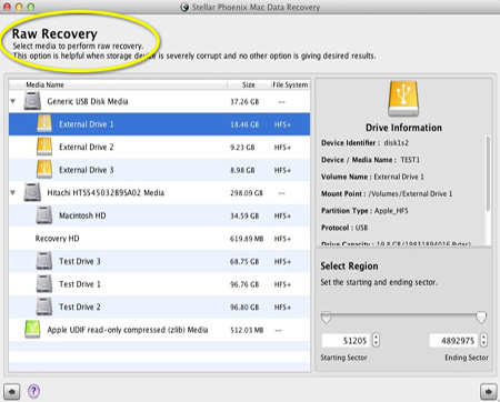 Screenshot af Stellar Phoenix Mac Data Recovery