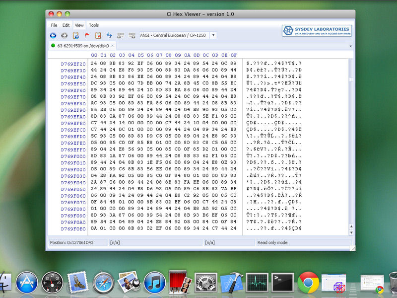 Screenshot af CI Hex Viewer
