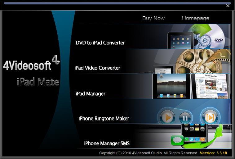 Screenshot af 4Videosoft iPad Mate