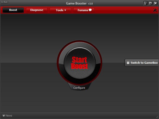 Screenshot af Game Booster