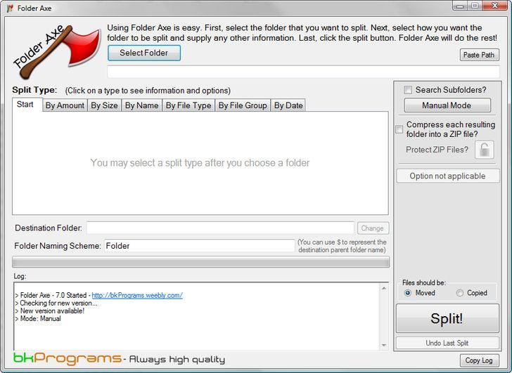 Screenshot af Folder Axe