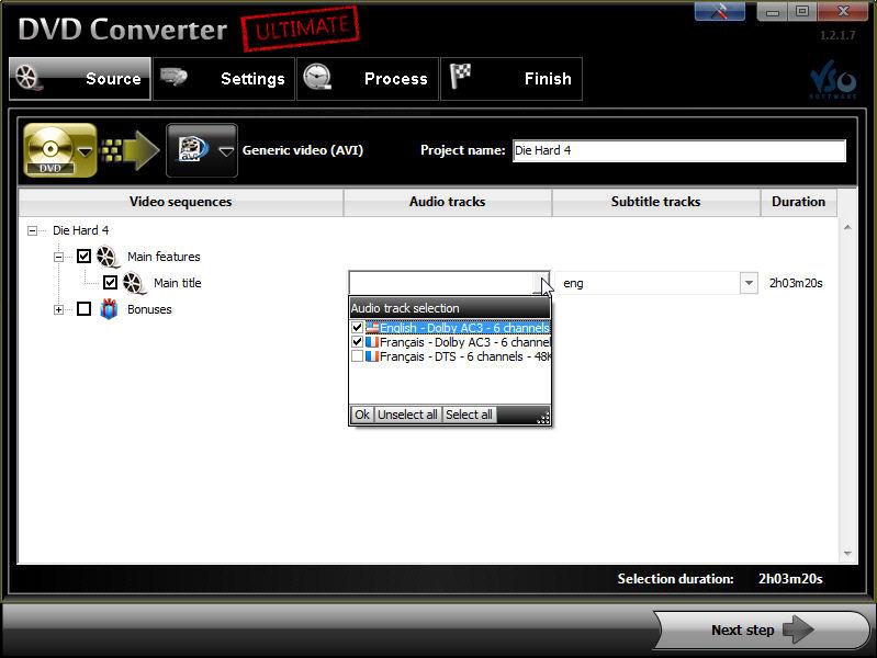 Screenshot af DVD Converter