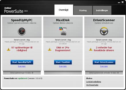 Screenshot af PowerSuite
