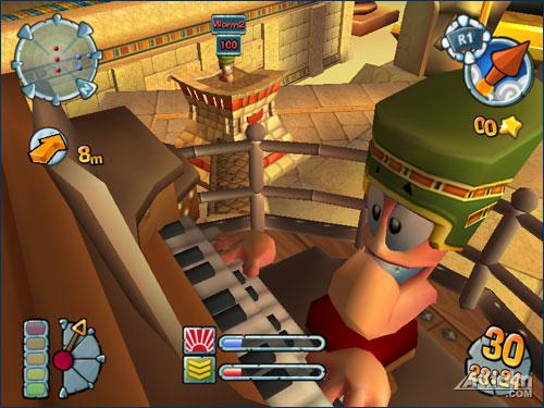 Screenshot af Worms Forts Under Siege
