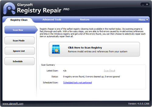 Screenshot af Registry Repair